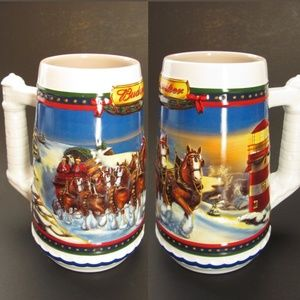Budweiser Beer Stein Clydesdales Horses Christmas